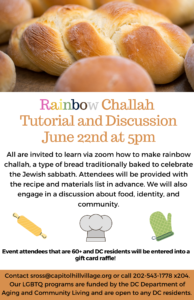Official Rainbow Challah Event Flyer