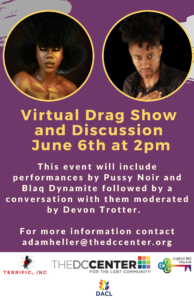 Drag Show and Discussion Flyer